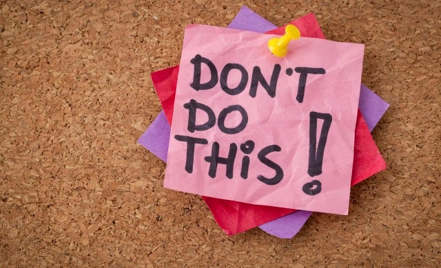 10 Things You Should Not do When Starting  a Business