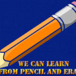learn from pencil and erazer