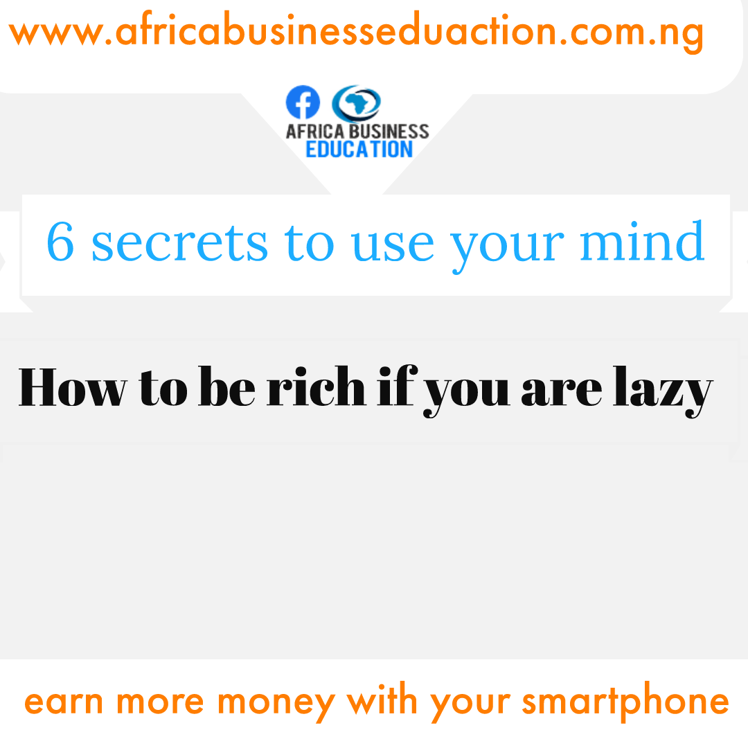 How to be rich if you are lazy