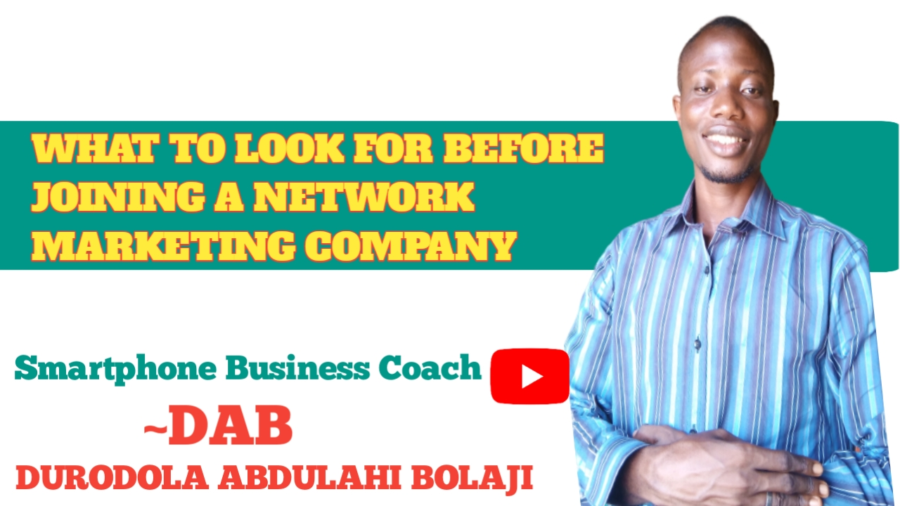 What to look for before joining a network marketing company